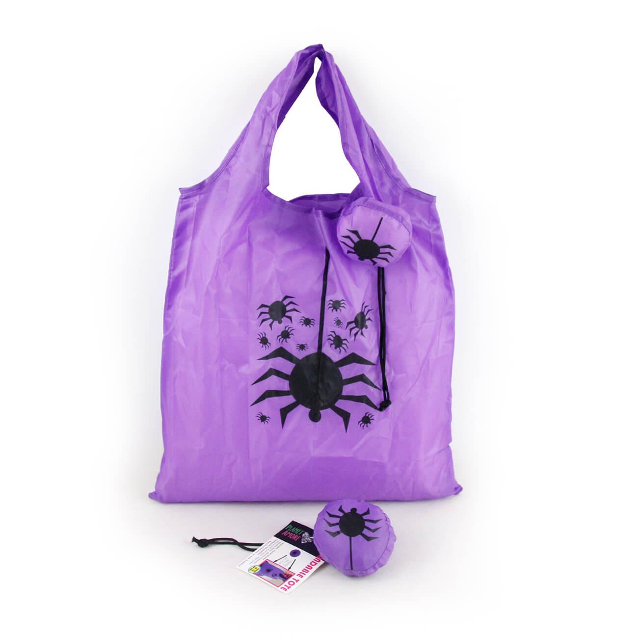 foldable halloween spider shopping bag reusable shopping bag nylon