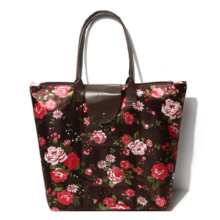 Floral vintage foldable Polyester 600D Shopping Bag