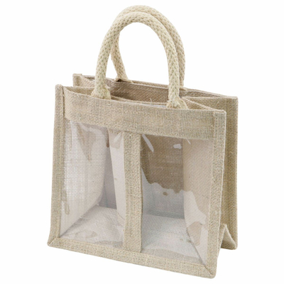 Jute Bags 2 Jars Gift Bags With 2 Widows