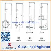 Glass lined agitator