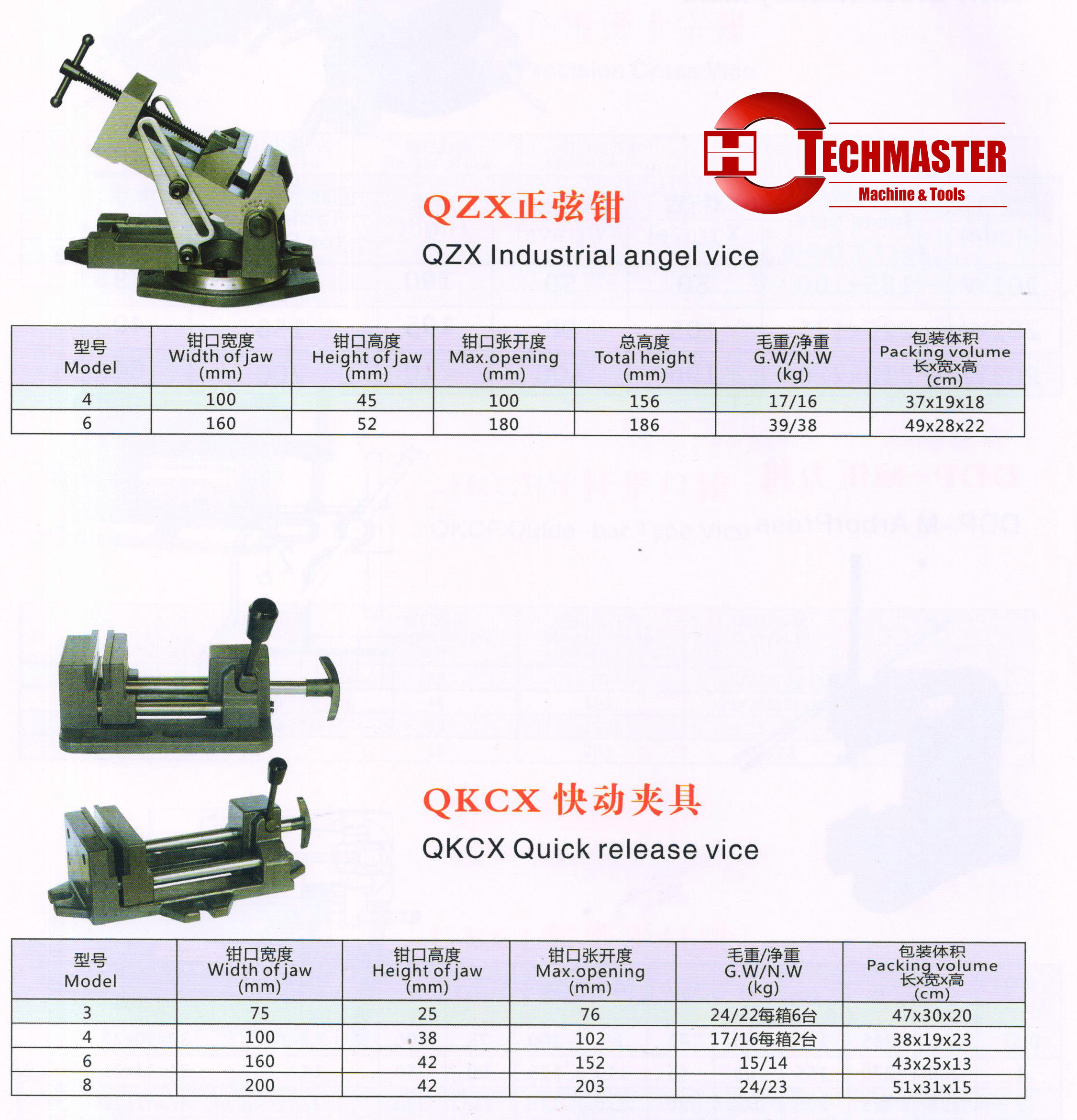 QZX -QKCX MACHINE VISES