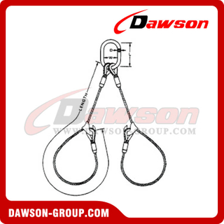 WS72-TTD Fulgish Eye Splice Wire Rope Slings