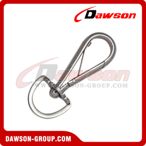 Snap Hook Half Round con Round Swivel