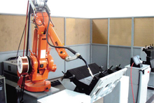 Robot welding system for switch cabinet