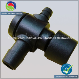 Injection Molding Plastic Part for Valves T-Connector (PL18018)
