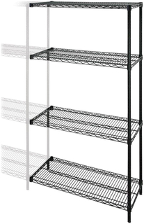 Add On Adjustable Wire Shelving With 4 Shelves,NSF Approval