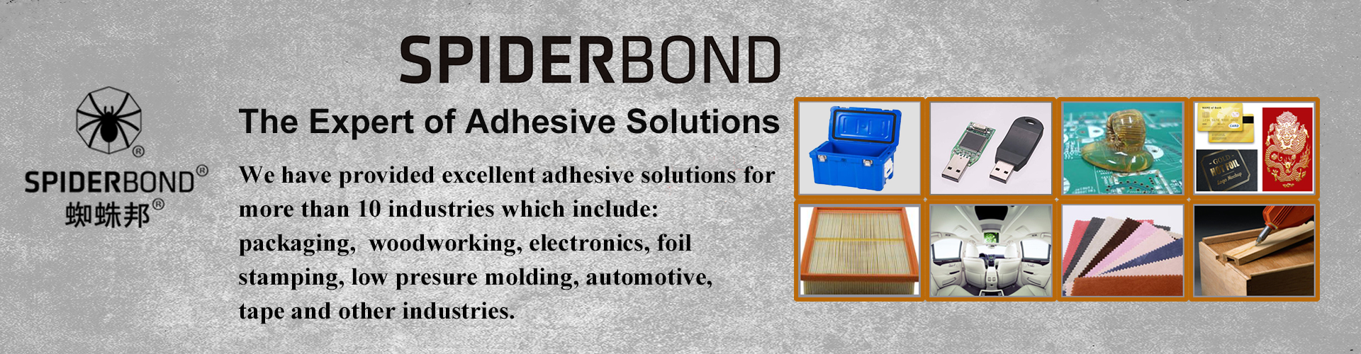 SPIDERBOND ADHESIVES Banner