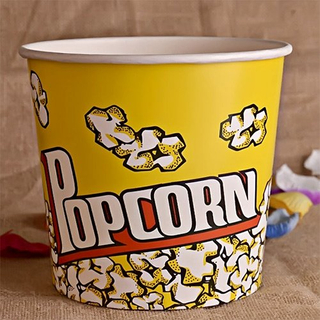 85 OZ Disposable Popcorn Bucket