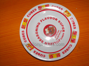 Food Seasoning Cube Promotional Gift Melamine Plate