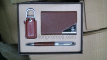 Name Card Box USB Flash Drive Pen Corporate Executive Business Gifts Set