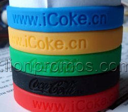 Cheap Coca Cola Events Giveaways Promotional Gift Silicone Wristband