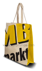 ECO Friendly Personalized Printing Jute Material Shopping Tote Bag