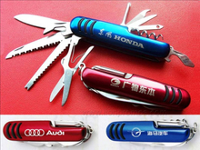 Car Logo Sales Promotional Gift Muli Functions Swiss knife
