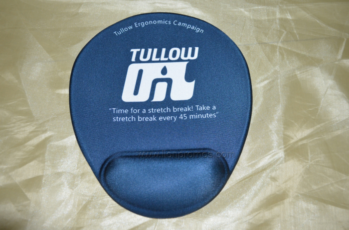 Tullow Oil Custom Logo Printed Silicone Gel Wrist Supports Mouse Pad
