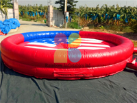 RB9124-8(5.5x5.5m) Inflatable Bull Riding Machine / Inflatable Mechanical Bull For Sale