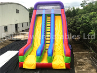 RB6016(9x7x4m) Inflatables colorful double slide