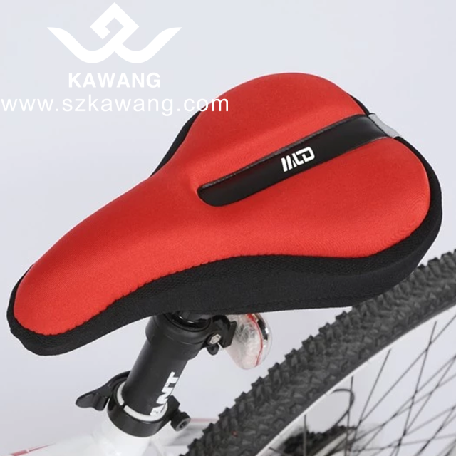 Kawang Fashion Bicycle Saddle Cover Elastic Padded Bike Seat Over with 5 colors
