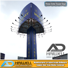 Frontlit Three Sided Tower Signs Junta publicitaria (W10 X H6m)