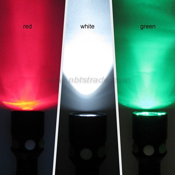Multi Function Tri-color Flashlight