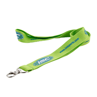 Custom badge holders lanyards with polyester material and print logo for exhibtion