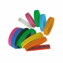 Mixed colorful silicone bracelets with debossed or embossed logo for sale