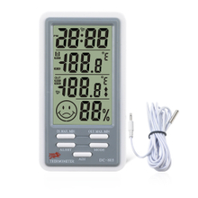INDOOR/OUTDOOR HYGRO-THERMOMETER CLOCK DC803