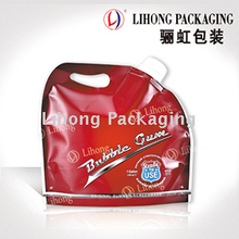 Big volume liquid detergent standing pouch