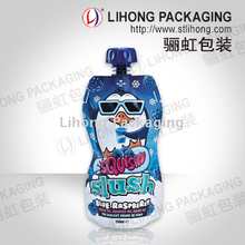 Special Shape Standing Beverage Pouch With Child Choke Proof Cap