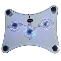 Three Fans Cooling Fan with 2 Blue LED Lights Make Fantastic