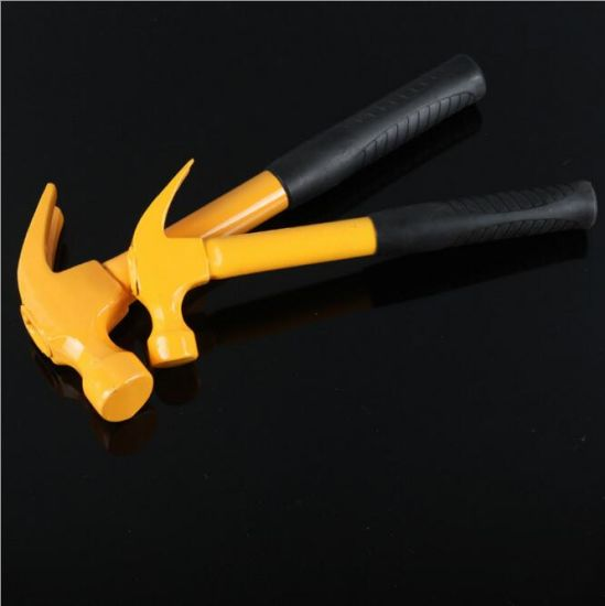 Hand Tools 45# Carbon Steel Claw Hammer with Iron Handle