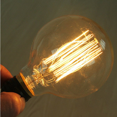 Iron Incandescent Light Bulbs 220V 60W E27 Small Round General Lighting Service Incandescent Lamp Glass Clear Edison