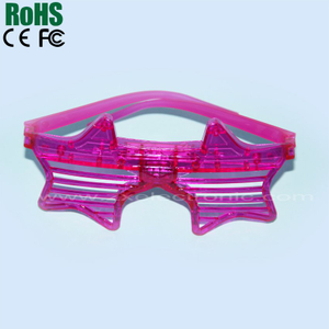 led colorful flashing Star shutter eyeglasses