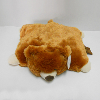 Cute Stuffed Plush Animal Baby Brown Bear Pillow