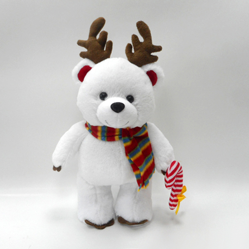 Custom Plush Christmas Teddy Bear Soft Toys with Colorful Scarf