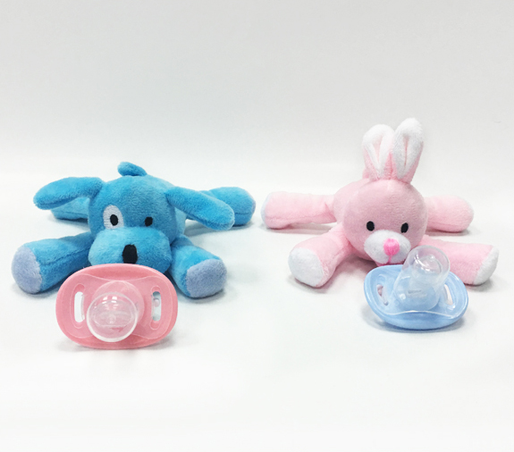 High Quality Safety Funny Baby Toy Pacifier with Plush Toys