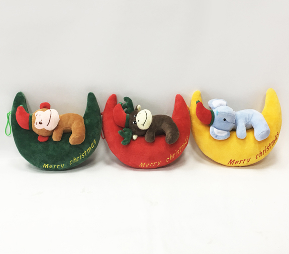 Modern Cute Christmas Soft Moon Stuffed Plush Toys