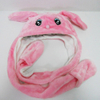 Soft Plush Pink Bunny Winter Hat for Kids