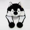 Soft Plush Toy Husky Winter Hat for Kids