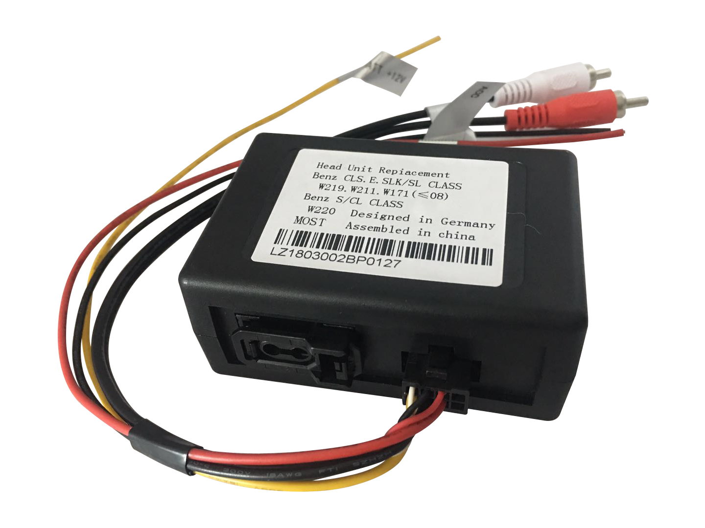 Mercedes Benz C CLS E SLK S SL CL for AUTO Radio Fibre Optics Adapter Most Bus Soundsystem