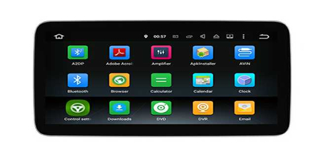 "Car DVD Player Benz C Benz GLC 10.25"" Anti-Glare Android 9.0 Front And Rear View Cam Realize 360 Panorama"