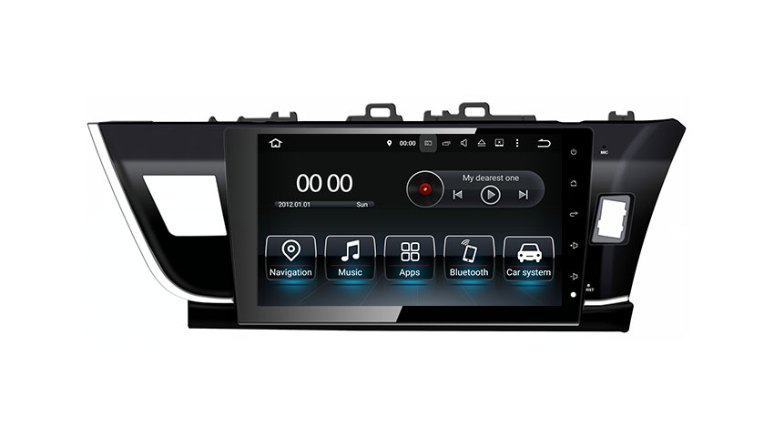 Car DVD GPS Navigation Wifi Radio Android 8.0 For Toyota Corolla 2014 Right drive (Fits: Corolla)