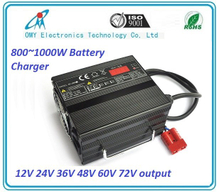 24V25A 800W smart battery Charger for Electric Vehicle, electric sweeper, tour car, golf car, sightseeing bus