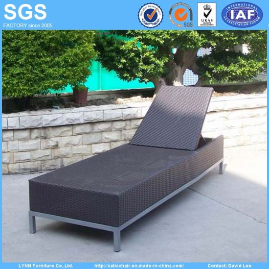 Outdoor Resort Furniture Rattan Sun Lounger