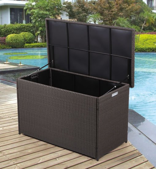 Wicker/Rattan Kd Cushion Box for Outdoor Furniture