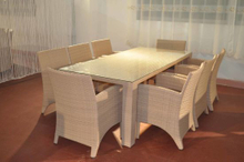 Garden Dining Set Rattan Table and Chairs