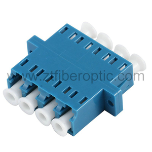 Singlemode Quad LC Fiber Optic Adapter