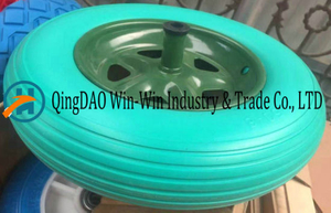 Colourful PU Wheel for Wheelbarrow (14*3.50-8)