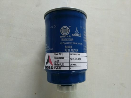 Sdlg LG936 Wheel Loader Spare Parts Fuel Filter 7200002385
