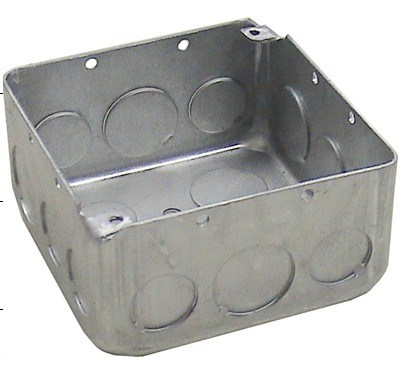 "4"" Square Conduit Box for Conduit and Wire"