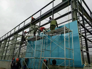 Prefabricated Large Steel Structure Football Court/Gymnasium/Basketball Court for Port Luis